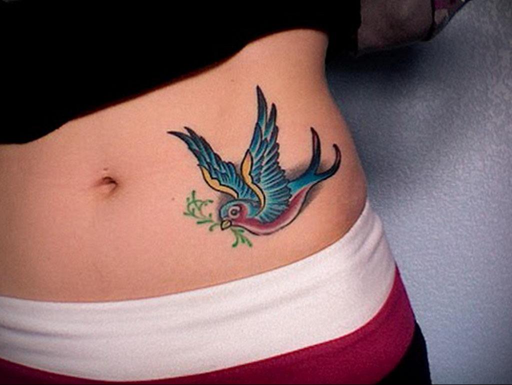 Фото тату про любовь рисунок Птица 03.02.2020 №120 -bird tattoo- tatufoto.com