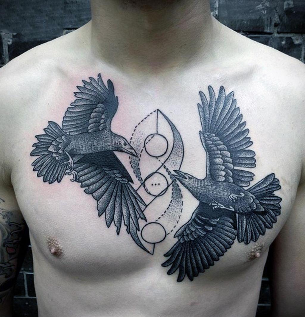 Фото тату про любовь рисунок Птица 03.02.2020 №122 -bird tattoo- tatufoto.com