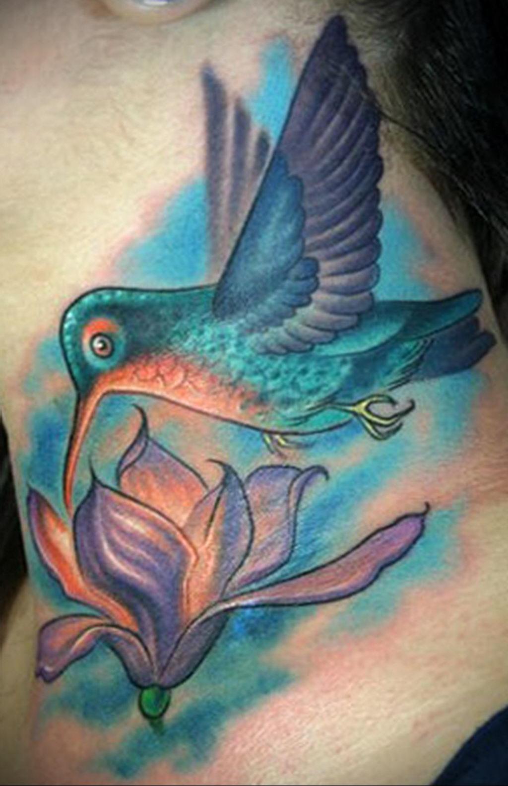Фото тату про любовь рисунок Птица 03.02.2020 №125 -bird tattoo- tatufoto.com