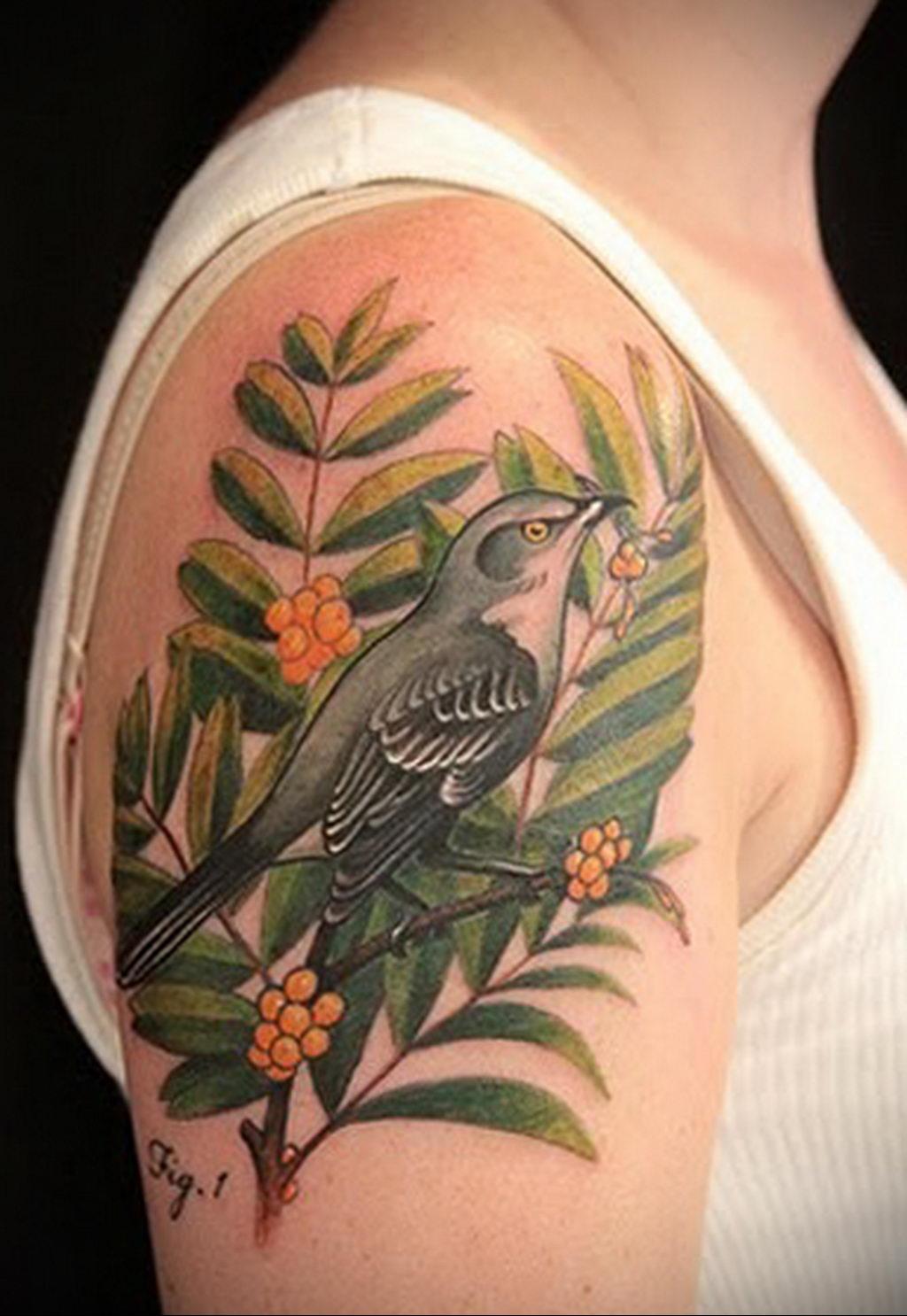 Фото тату про любовь рисунок Птица 03.02.2020 №156 -bird tattoo- tatufoto.com