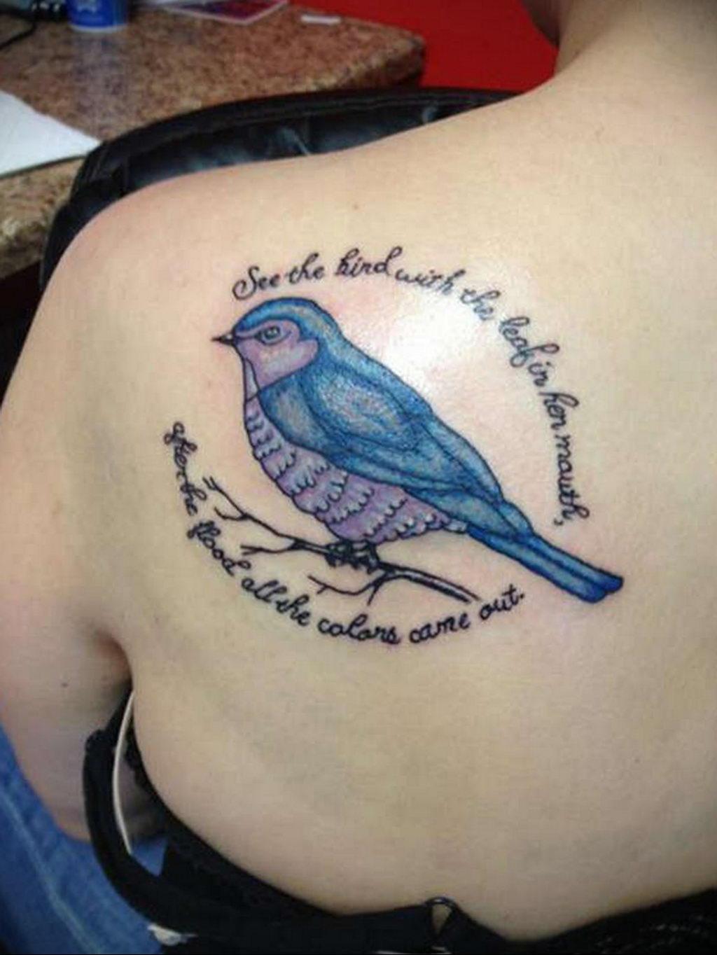 Фото тату про любовь рисунок Птица 03.02.2020 №160 -bird tattoo- tatufoto.com