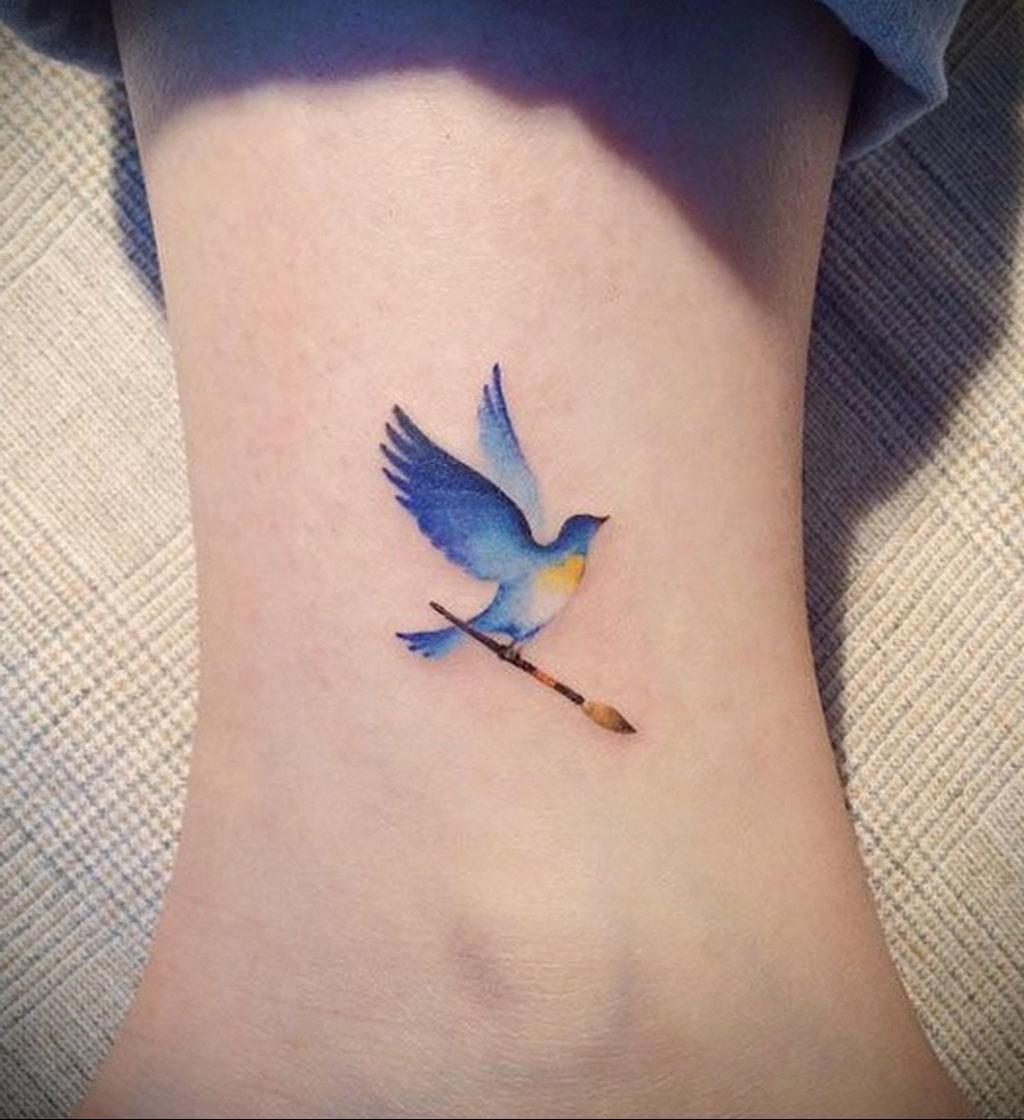 Фото тату про любовь рисунок Птица 03.02.2020 №200 -bird tattoo- tatufoto.com