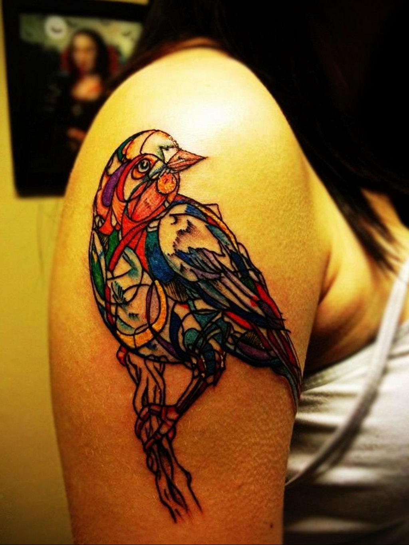 Фото тату про любовь рисунок Птица 03.02.2020 №204 -bird tattoo- tatufoto.com