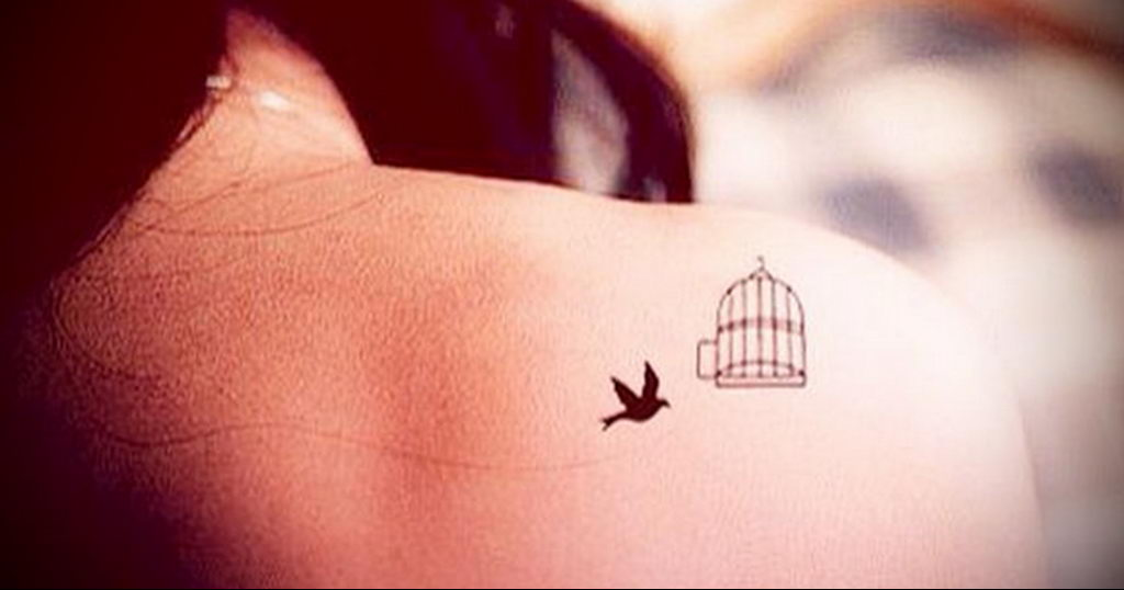 Фото тату про любовь рисунок Птица 03.02.2020 №205 -bird tattoo- tatufoto.com
