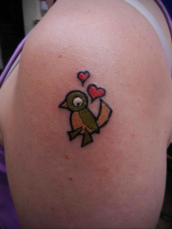 Фото тату про любовь рисунок Птица 03.02.2020 №227 -bird tattoo- tatufoto.com
