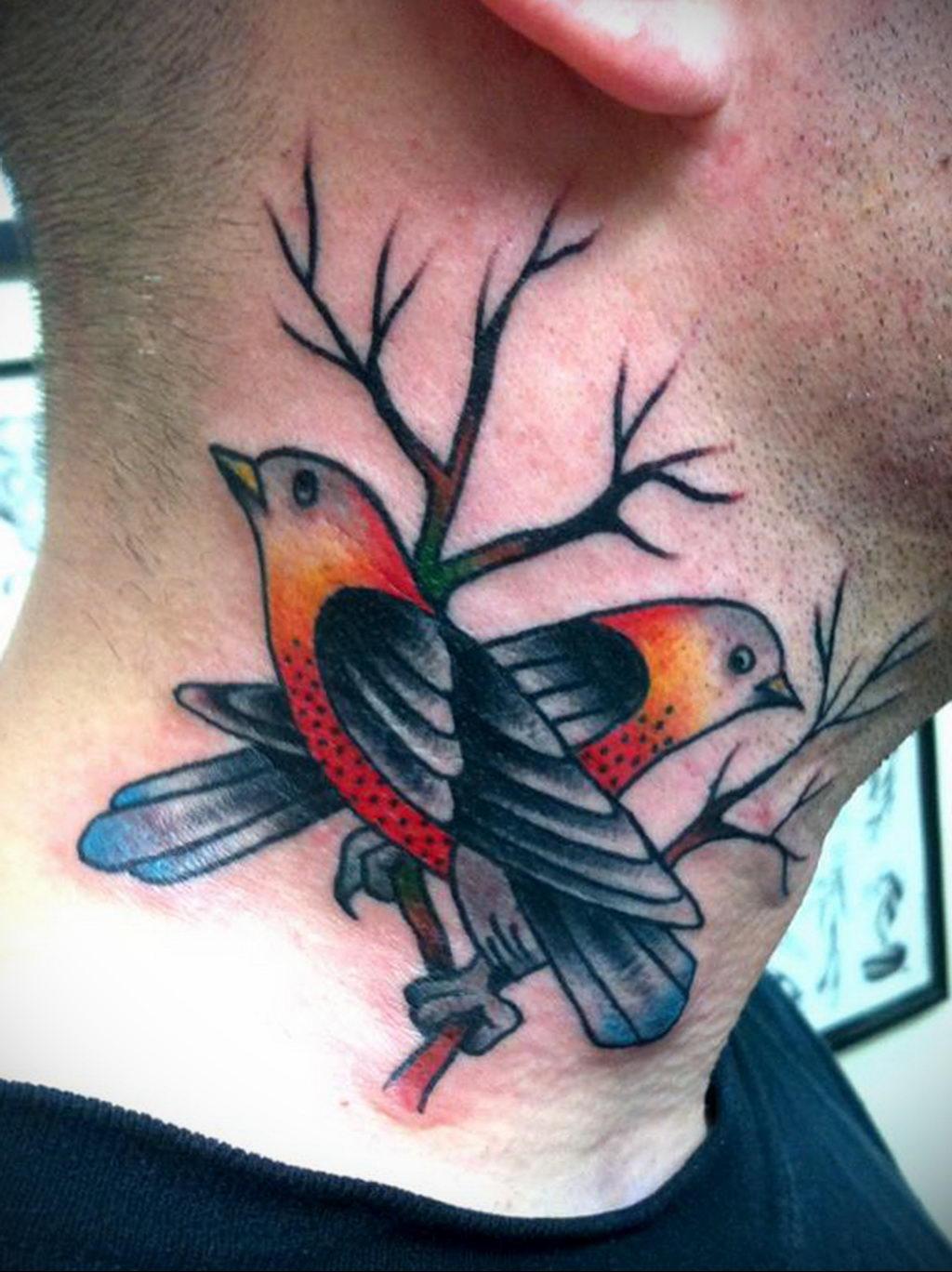 Фото тату про любовь рисунок Птица 03.02.2020 №231 -bird tattoo- tatufoto.com