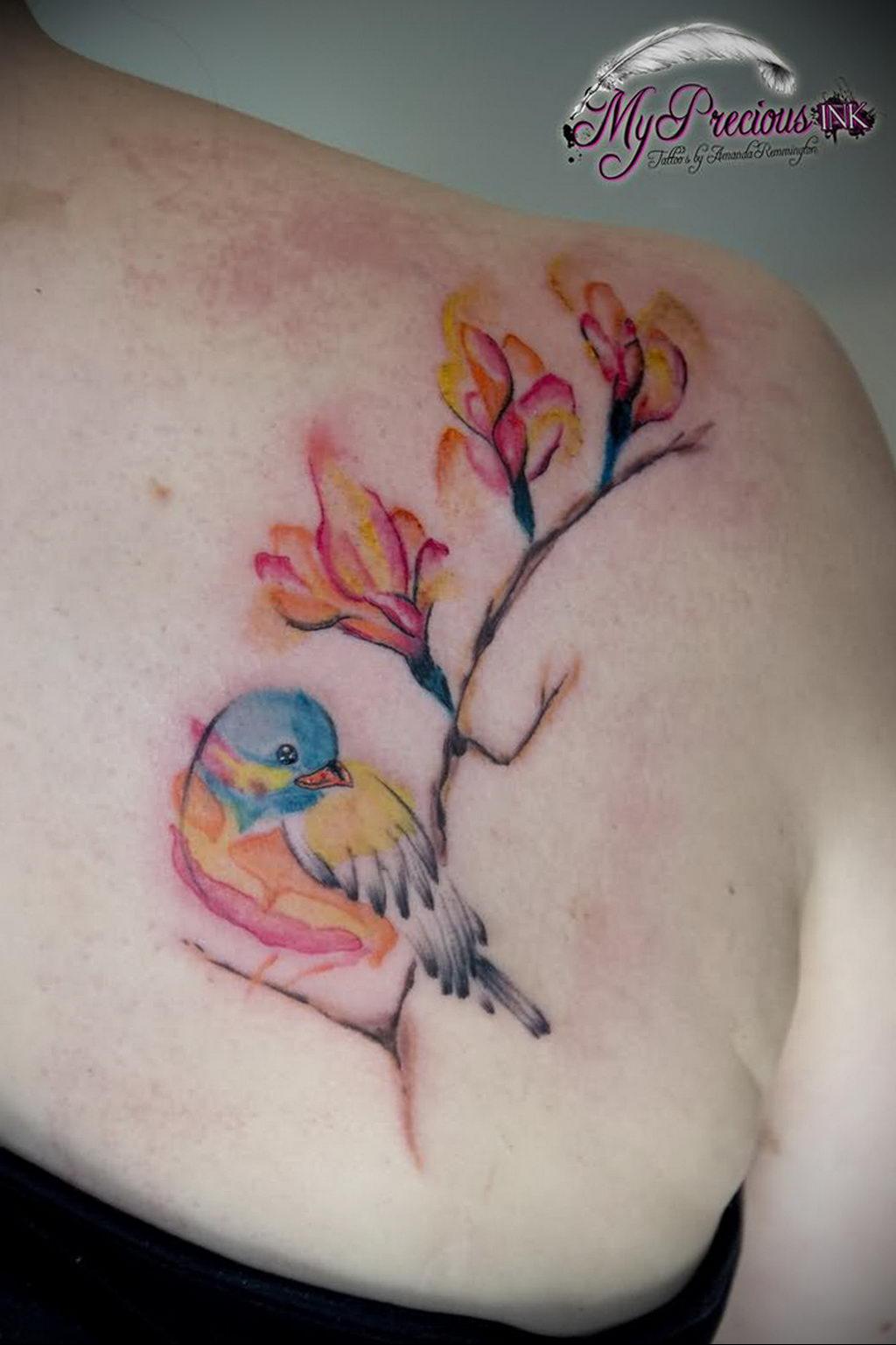 Фото тату про любовь рисунок Птица 03.02.2020 №232 -bird tattoo- tatufoto.com
