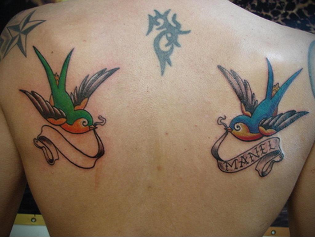 Фото тату про любовь рисунок Птица 03.02.2020 №242 -bird tattoo- tatufoto.com