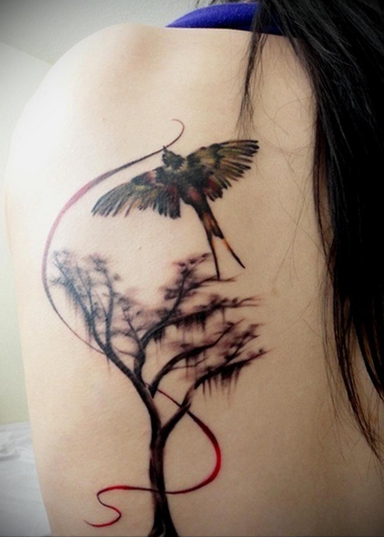 Фото тату про любовь рисунок Птица 03.02.2020 №284 -bird tattoo- tatufoto.com