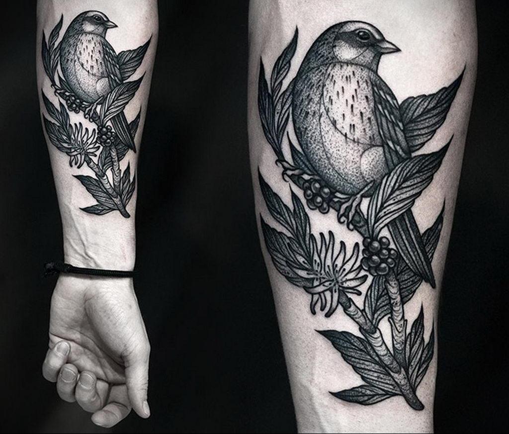 Фото тату про любовь рисунок Птица 03.02.2020 №286 -bird tattoo- tatufoto.com