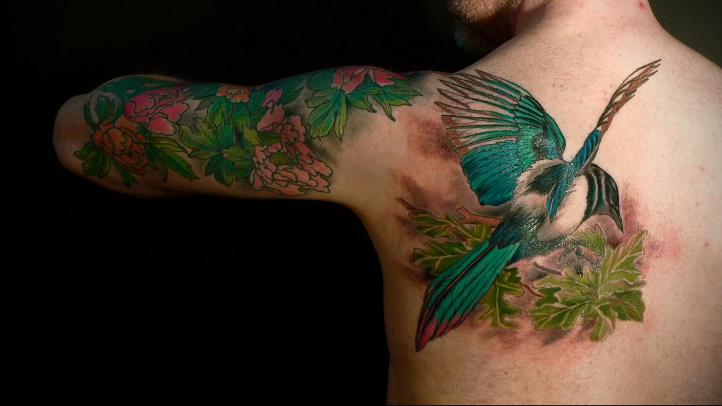 Фото тату про любовь рисунок Птица 03.02.2020 №306 -bird tattoo- tatufoto.com