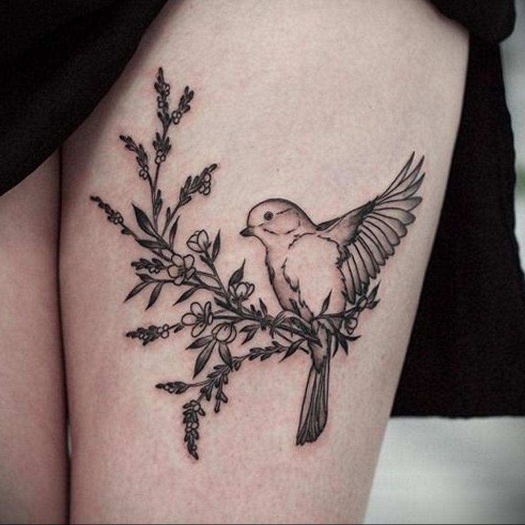 Фото тату про любовь рисунок Птица 03.02.2020 №309 -bird tattoo- tatufoto.com