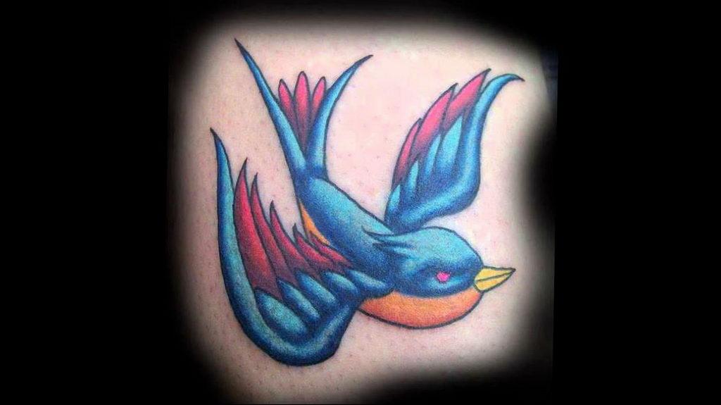 Фото тату про любовь рисунок Птица 03.02.2020 №320 -bird tattoo- tatufoto.com