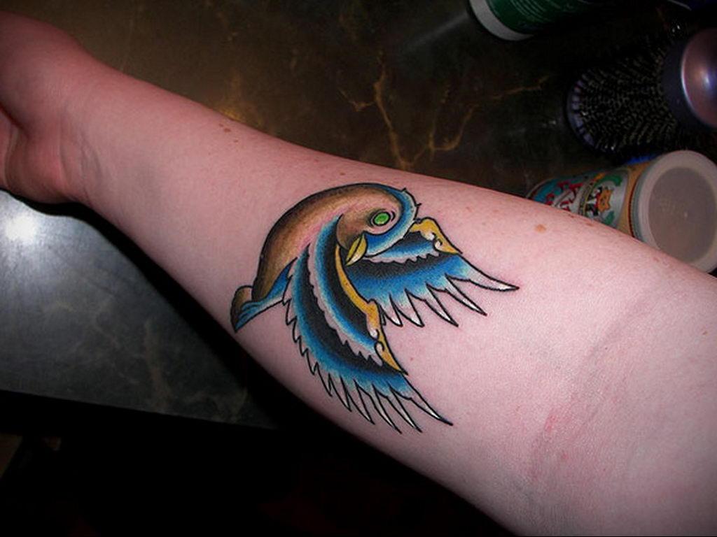 Фото тату про любовь рисунок Птица 03.02.2020 №326 -bird tattoo- tatufoto.com
