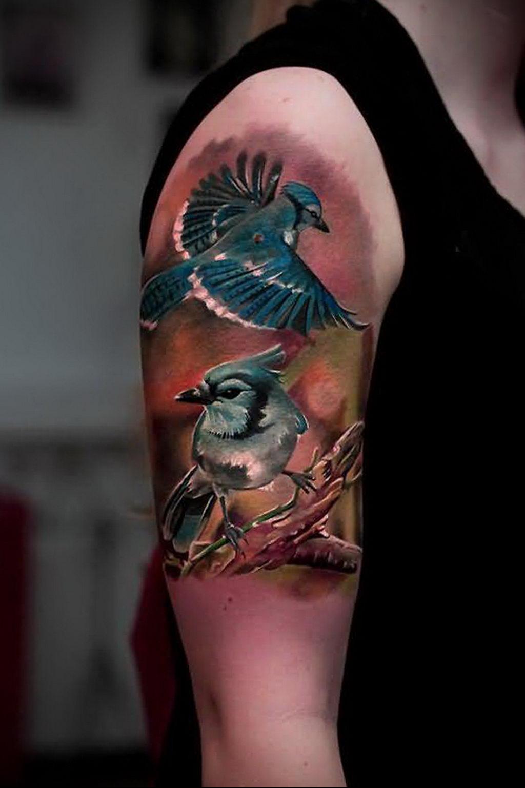 Фото тату про любовь рисунок Птица 03.02.2020 №341 -bird tattoo- tatufoto.com