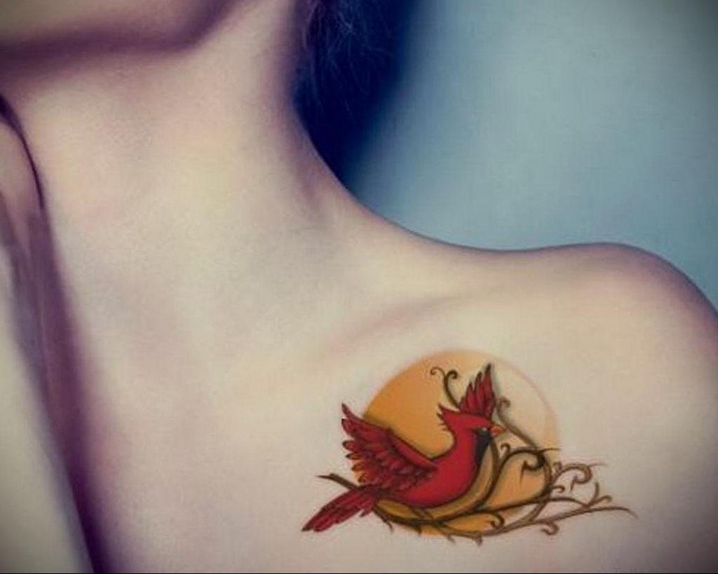Фото тату про любовь рисунок Птица 03.02.2020 №342 -bird tattoo- tatufoto.com