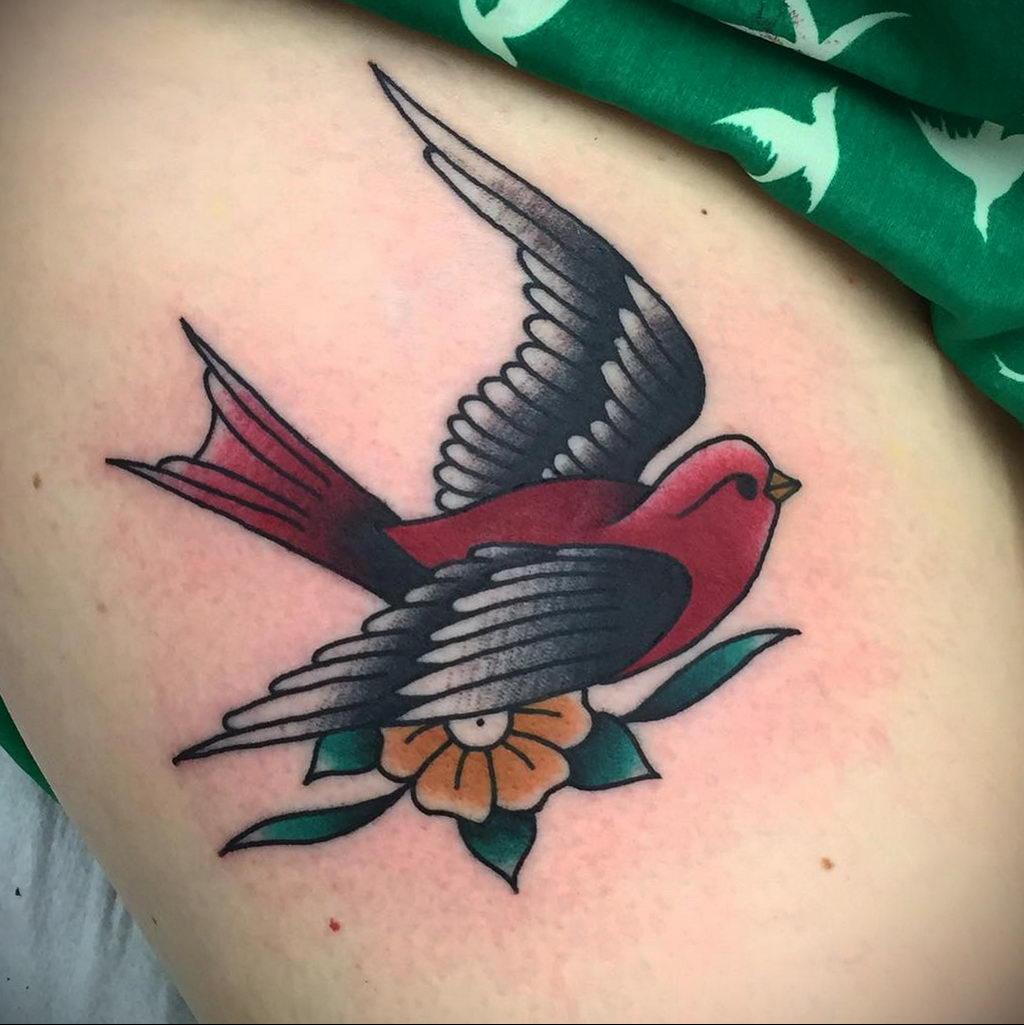Фото тату про любовь рисунок Птица 03.02.2020 №368 -bird tattoo- tatufoto.com