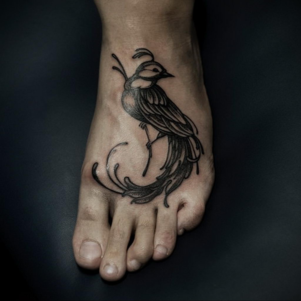 Фото тату про любовь рисунок Птица 03.02.2020 №381 -bird tattoo- tatufoto.com