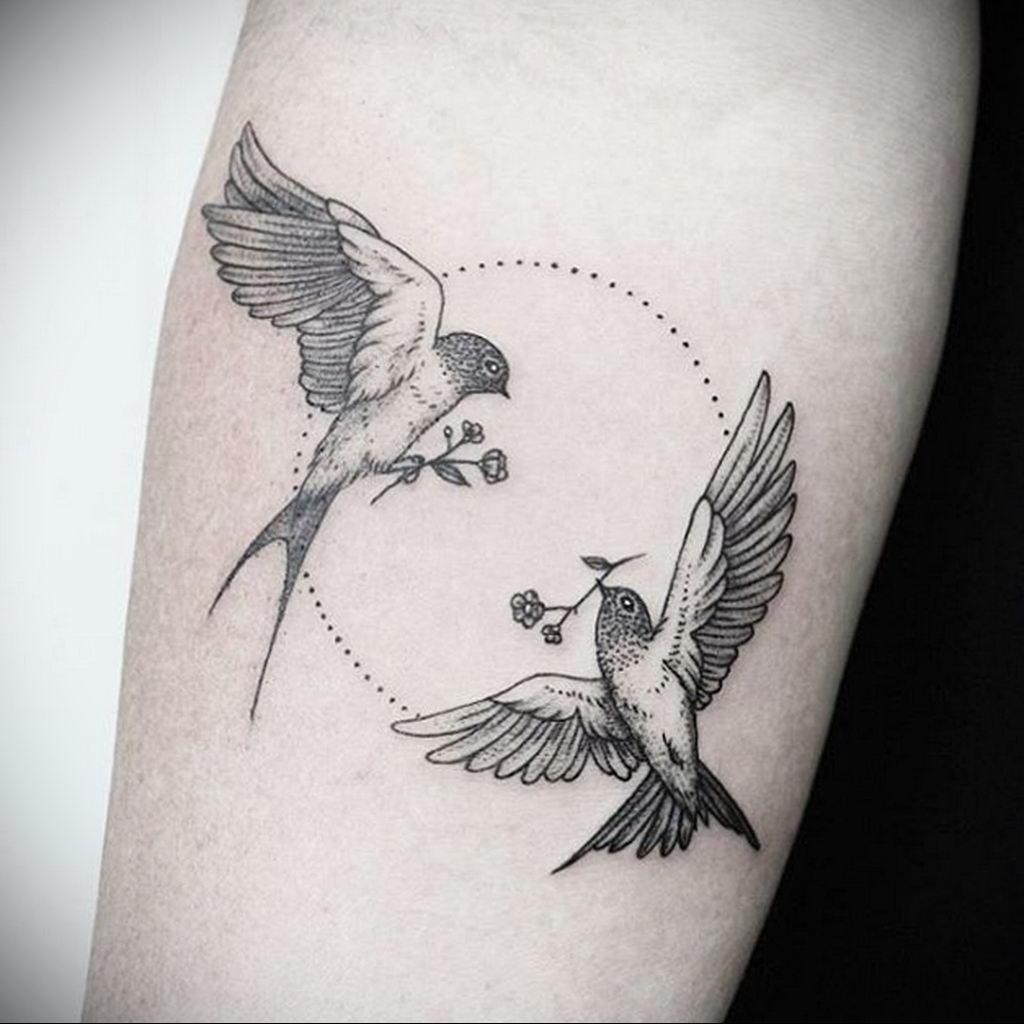 Фото тату про любовь рисунок Птица 03.02.2020 №388 -bird tattoo- tatufoto.com