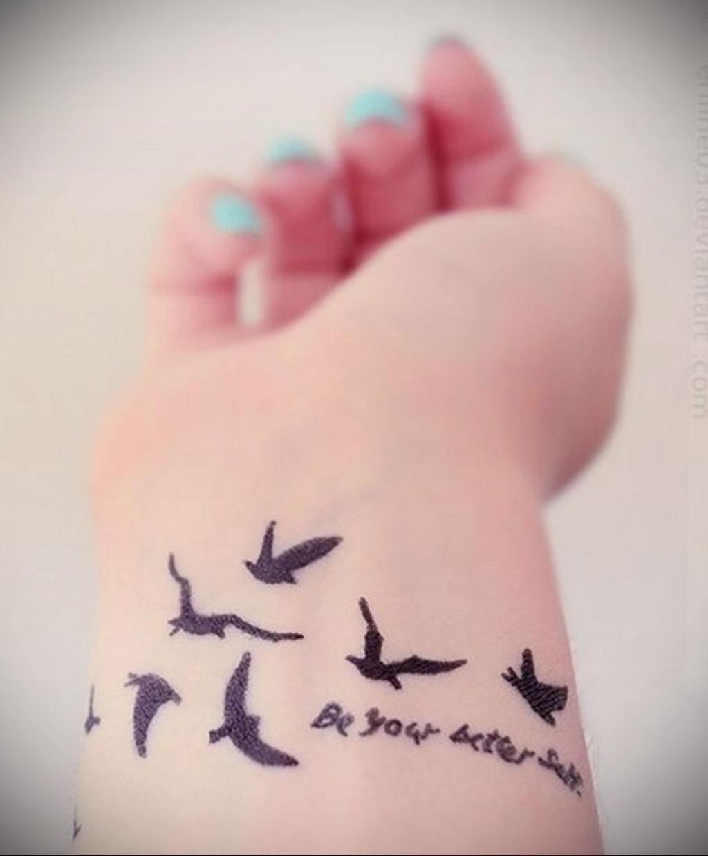 Фото тату про любовь рисунок Птица 03.02.2020 №402 -bird tattoo- tatufoto.com