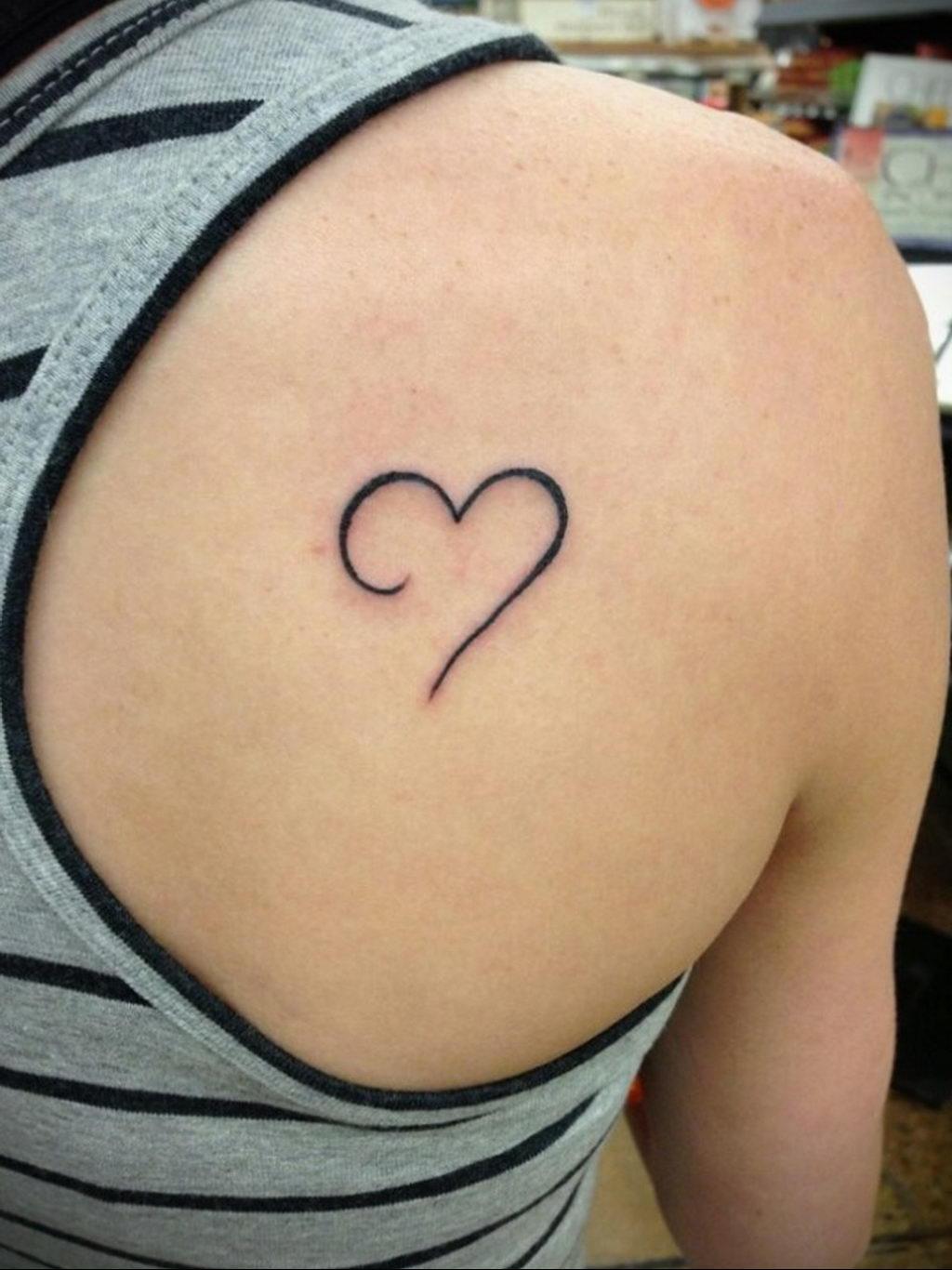 Фото тату про любовь рисунок Сердце 03.02.2020 №029 -heart tattoo- tatufoto.com