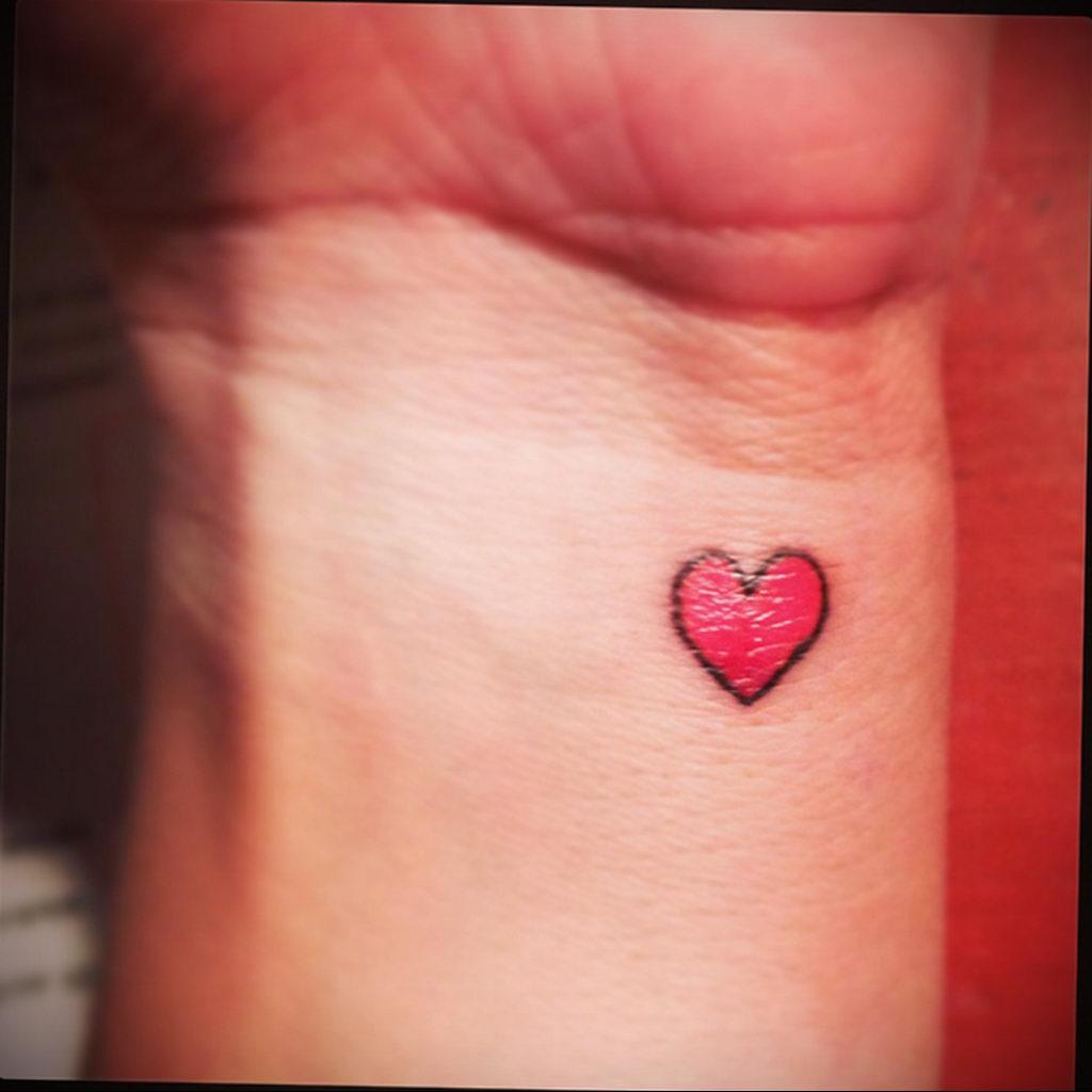 Фото тату про любовь рисунок Сердце 03.02.2020 №030 -heart tattoo- tatufoto.com