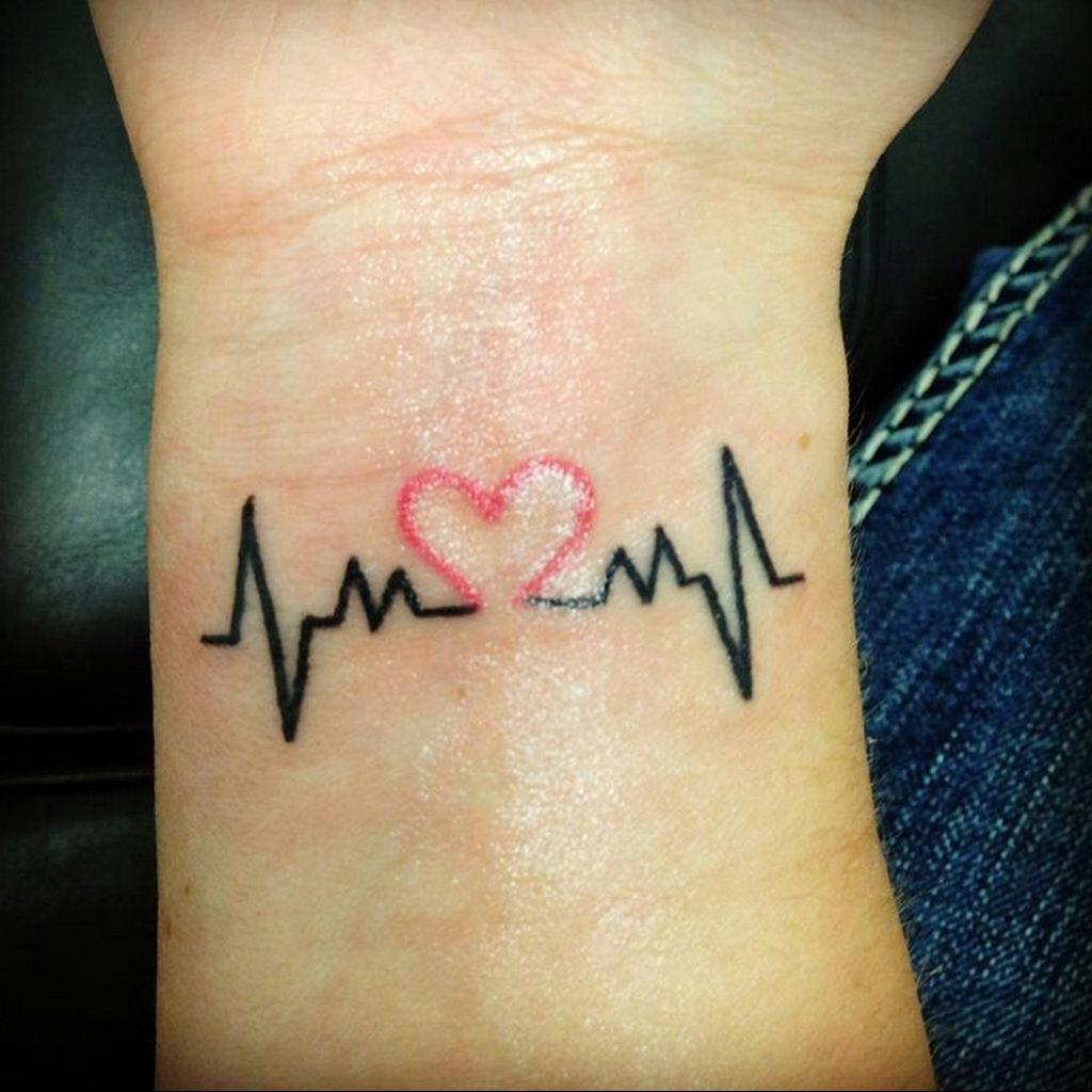 Фото тату про любовь рисунок Сердце 03.02.2020 №035 -heart tattoo- tatufoto.com