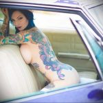 @riae_ - Красивая девушка с татуировками на карантине во время эпидемии COVID-19 для tatufoto.com 15