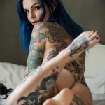 @riae_ - Красивая девушка с татуировками на карантине во время эпидемии COVID-19 для tatufoto.com 22