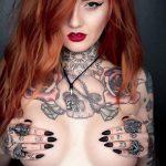@x_luna_lou_x - Красивая девушка с татуировками на карантине во время эпидемии COVID-19 для tatufoto.com 16
