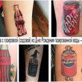 Татуировка с газировкой (содовой) ко Дню Рождения газированной воды – 24 апреля - информация и фото примеры рисунков тату