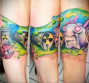 Фото Тату со знаком радиации 26.04.2020 №004 -Radiation Tattoo- tatufoto.com