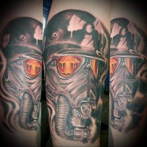 Фото Тату со знаком радиации 26.04.2020 №026 -Radiation Tattoo- tatufoto.com