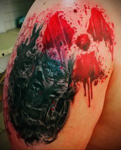 Фото Тату со знаком радиации 26.04.2020 №028 -Radiation Tattoo- tatufoto.com