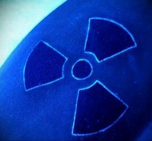 Фото Тату со знаком радиации 26.04.2020 №056 -Radiation Tattoo- tatufoto.com