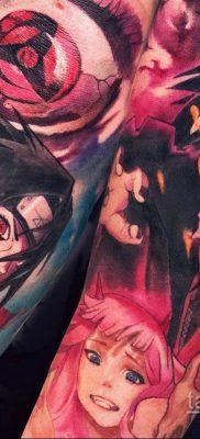 Фото татуировки аниме ко дню аниме 11.04.2020 №099 -anime tattoo- tatufoto.com