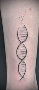 Фото тату с цепочкой ДНК 25.04.2020 №050 -DNA Chain Tattoo- tatufoto.com