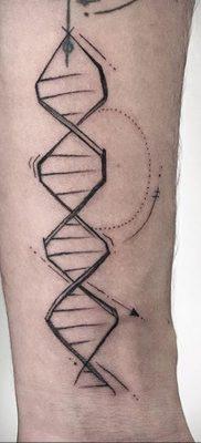 Фото тату с цепочкой ДНК 25.04.2020 №085 -DNA Chain Tattoo- tatufoto.com