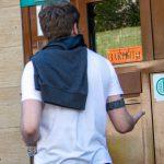Тату браслет на бицепсе в стиле блекворк с узорами белым - Уличная татуировка (Street tattoo) № 03 – 11.05.2020 для tatufoto.com 1