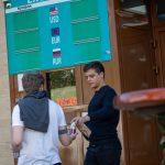 Тату браслет на бицепсе в стиле блекворк с узорами белым - Уличная татуировка (Street tattoo) № 03 – 11.05.2020 для tatufoto.com 2