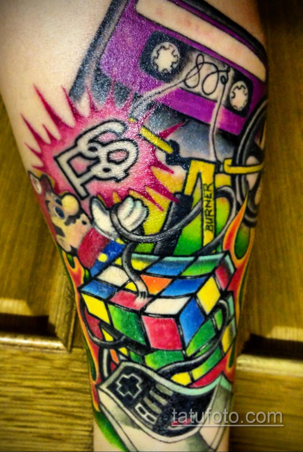 Фото Татуировки с Кубиком Рубика 16.05.2020 №006 -Rubik Cube Tattoo- tatufoto.com