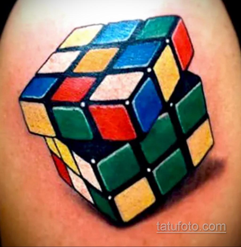 Фото Татуировки с Кубиком Рубика 16.05.2020 №010 -Rubik Cube Tattoo- tatufoto.com