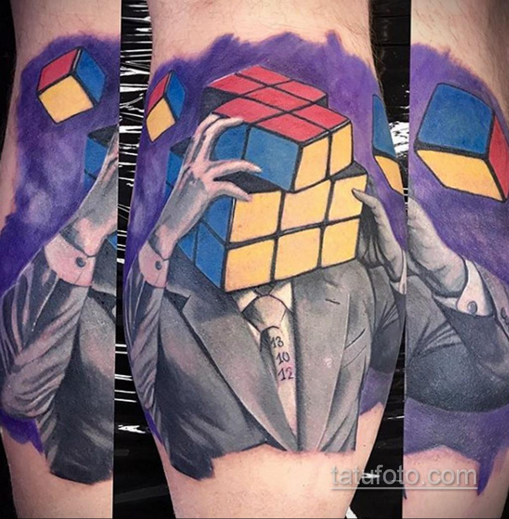 Фото Татуировки с Кубиком Рубика 16.05.2020 №044 -Rubik Cube Tattoo- tatufoto.com