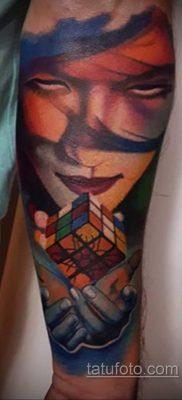 Фото Татуировки с Кубиком Рубика 16.05.2020 №047 -Rubik Cube Tattoo- tatufoto.com