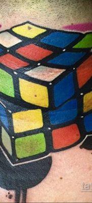 Фото Татуировки с Кубиком Рубика 16.05.2020 №048 -Rubik Cube Tattoo- tatufoto.com