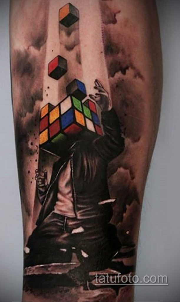 Фото Татуировки с Кубиком Рубика 16.05.2020 №059 -Rubik Cube Tattoo- tatufoto.com