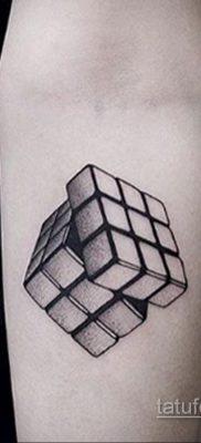 Фото Татуировки с Кубиком Рубика 16.05.2020 №062 -Rubik Cube Tattoo- tatufoto.com