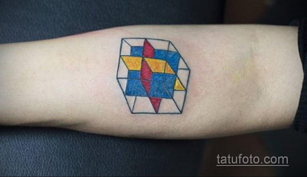 Фото Татуировки с Кубиком Рубика 16.05.2020 №069 -Rubik Cube Tattoo- tatufoto.com