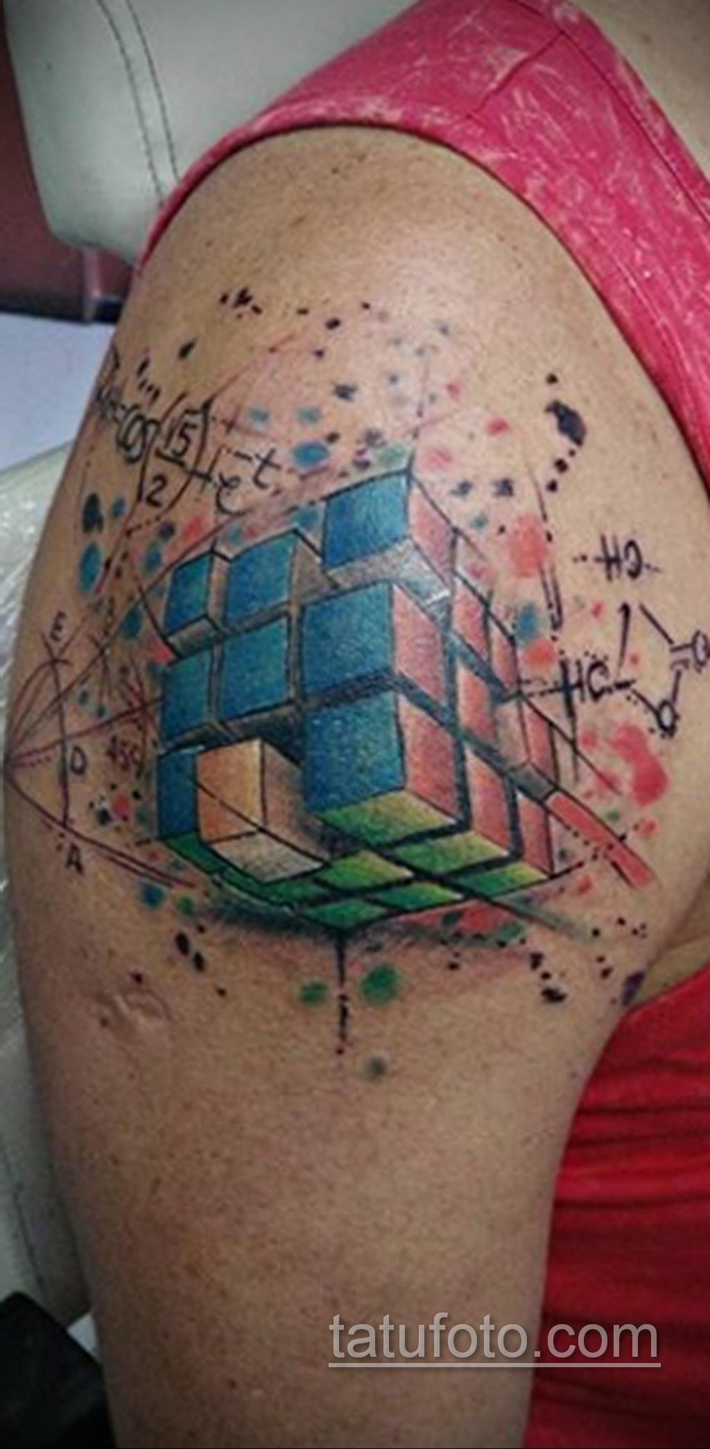 Фото Татуировки с Кубиком Рубика 16.05.2020 №075 -Rubik Cube Tattoo- tatufoto.com