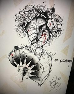 Фото татуировки на тему весны 01.05.2020 №040 -spring tattoo- tatufoto.com
